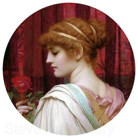 John William Godward Chloris  A Summer Rose